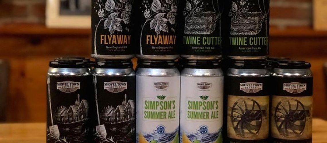 Cans available this week are: Flyaway NEIPA, Simpson's Summer Ale, Shovel Shop DIPA, Twine…
